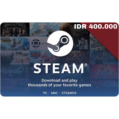Steam Wallet Code IDR 400000 Indonesia