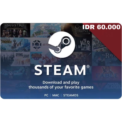 Steam Wallet Code IDR 60000 Indonesia