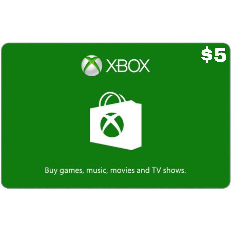 Xbox Gift Card USD $5