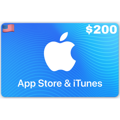 Apple iTunes Gift Card US $200