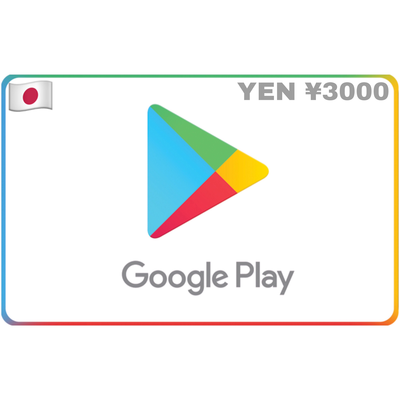 Google Play Japan ¥3000 YEN