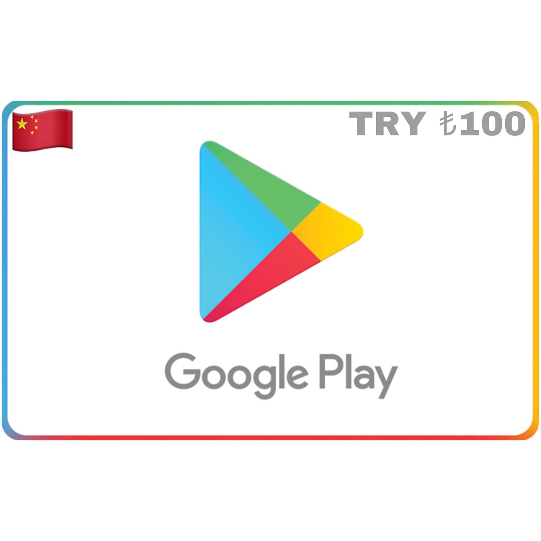 Google Play Turkey TRY ₺100