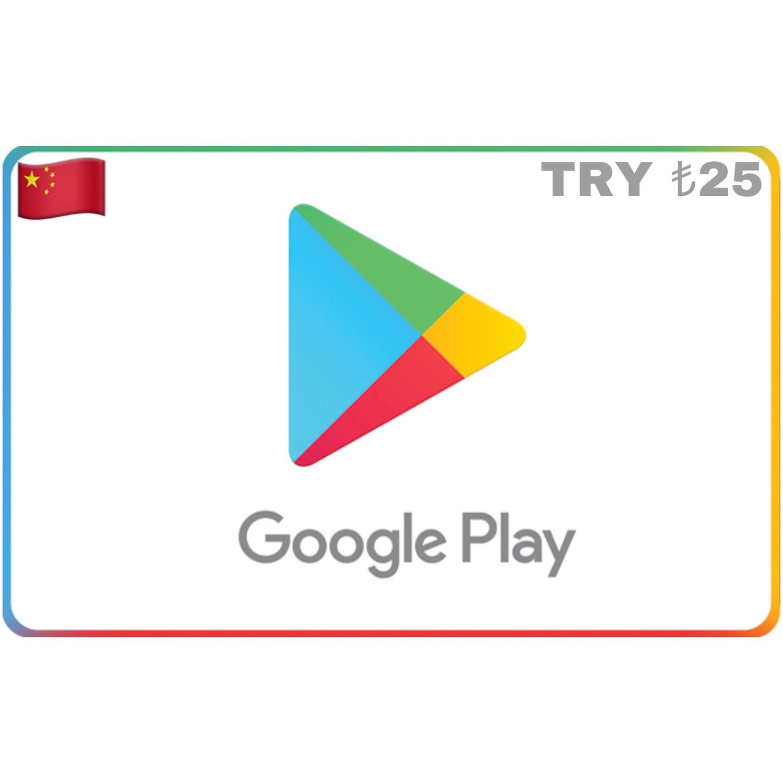 Google Play Turkey TRY ₺25