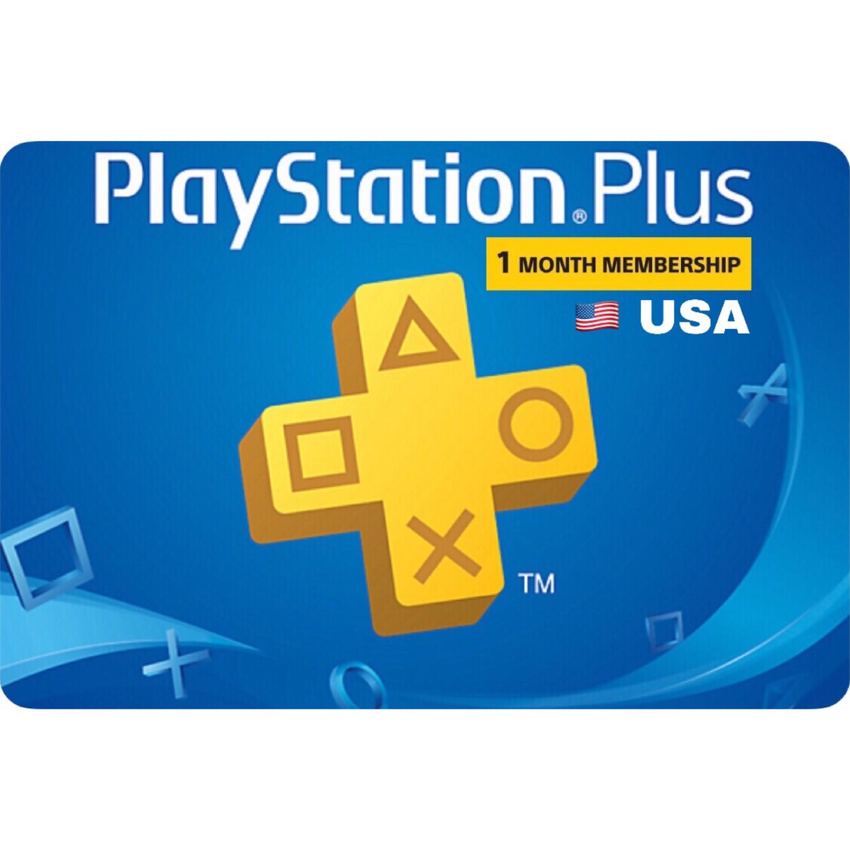 Playstation Plus (PSN Plus) USA 1 Month