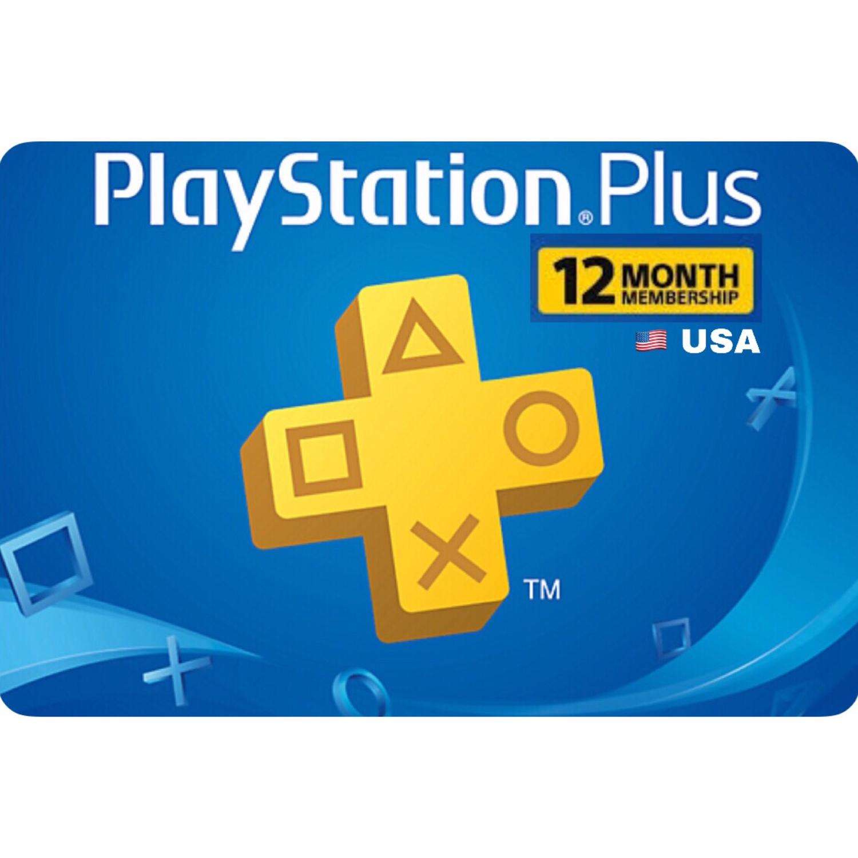 Playstation Plus (PSN Plus) USA 12 Months