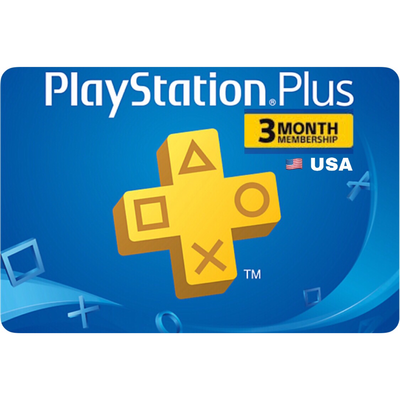 Playstation Plus (PSN Plus) USA 3 Months