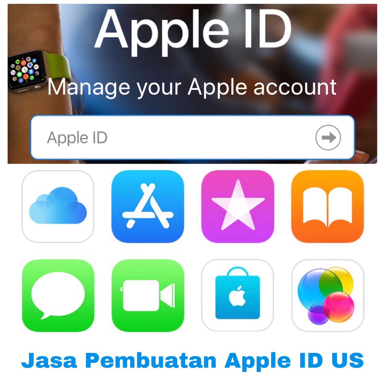 Jasa Pembuatan Apple ID US dengan saldo $15