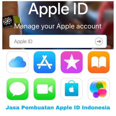 Jasa Create Apple ID Indonesia tanpa saldo