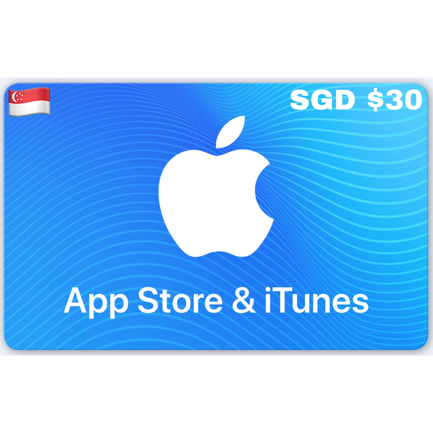 Apple iTunes Gift Card Singapore SGD $30