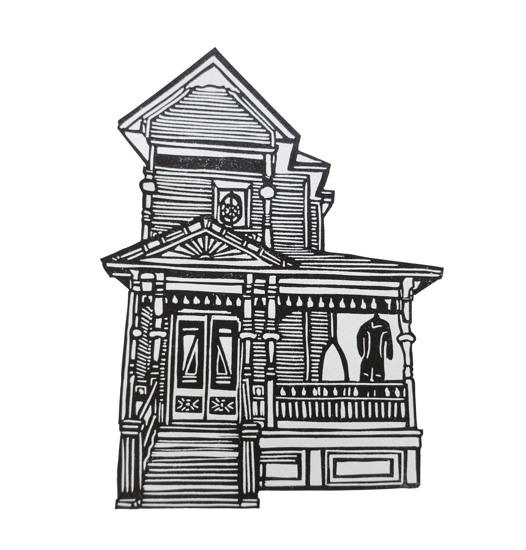 Surf Art- Victorian house - 1, 2021