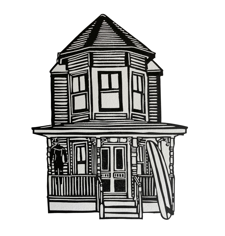Surf Art- Victorian house - 2, 2021