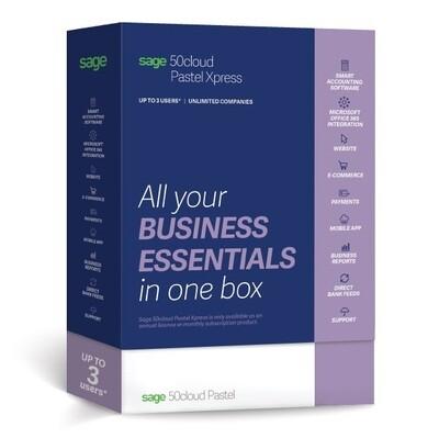 Sage 50c Pastel Xpress Accounting (1-3 users)
