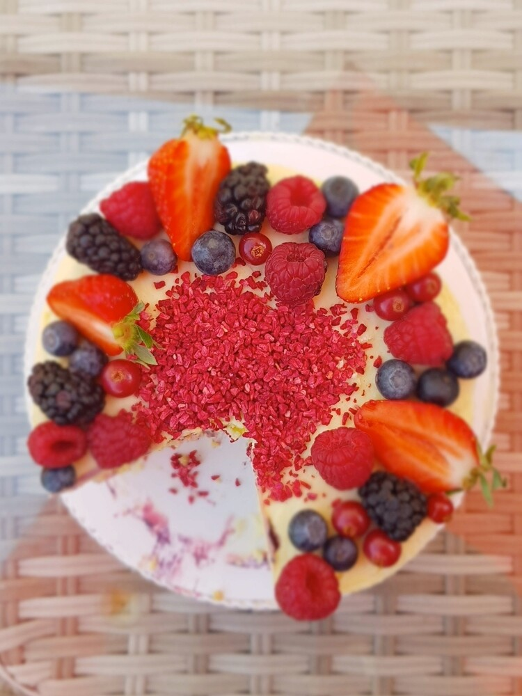 Himbeere & weiße Schokolade   Torte