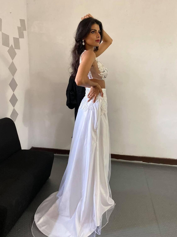 Made up bridal saree/lehenga - 2 in 1 design