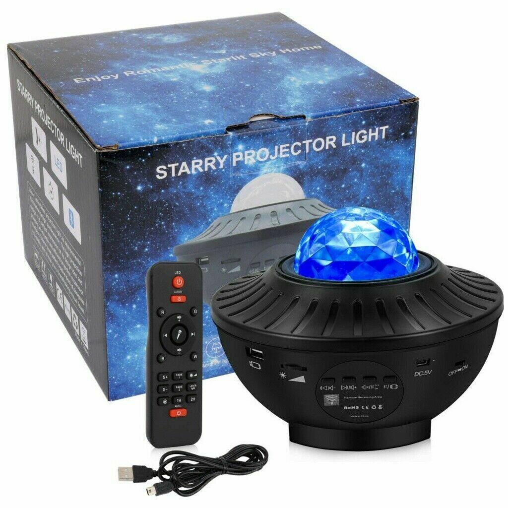 Rotating LED Nebula Cloud Light Galaxy Projector Starry Night Lamp Star Projection Night Light Bluetooth USB LED