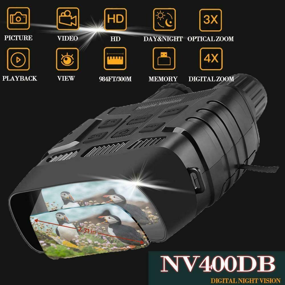 Digital Night Vision Binoculars with LCD Infrared Camera Take Photo Video Hunting