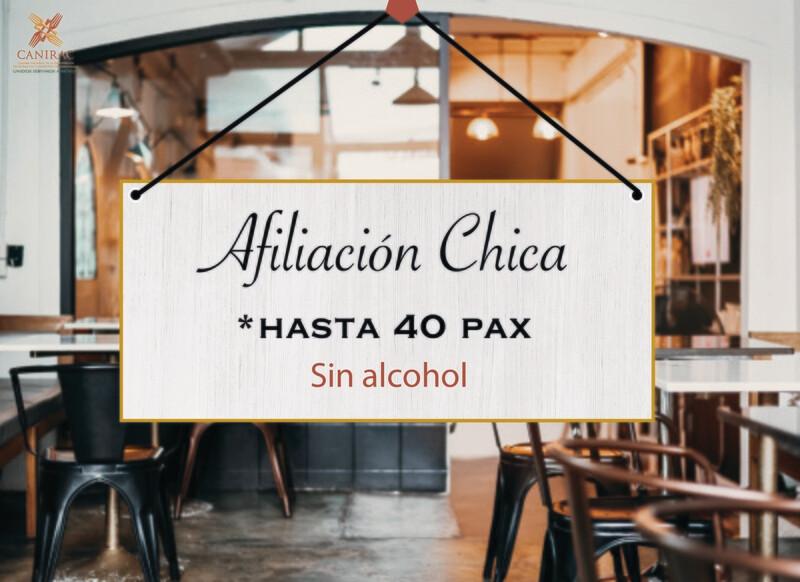 AFILIACIÓN CHICA, SIN ALCOHOL