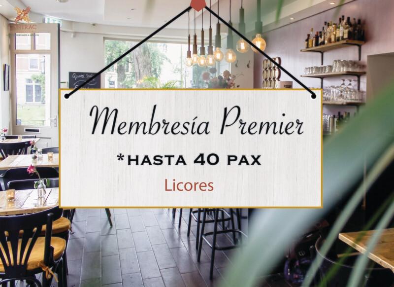 MEMBRESÍA PREMIER, LICORES