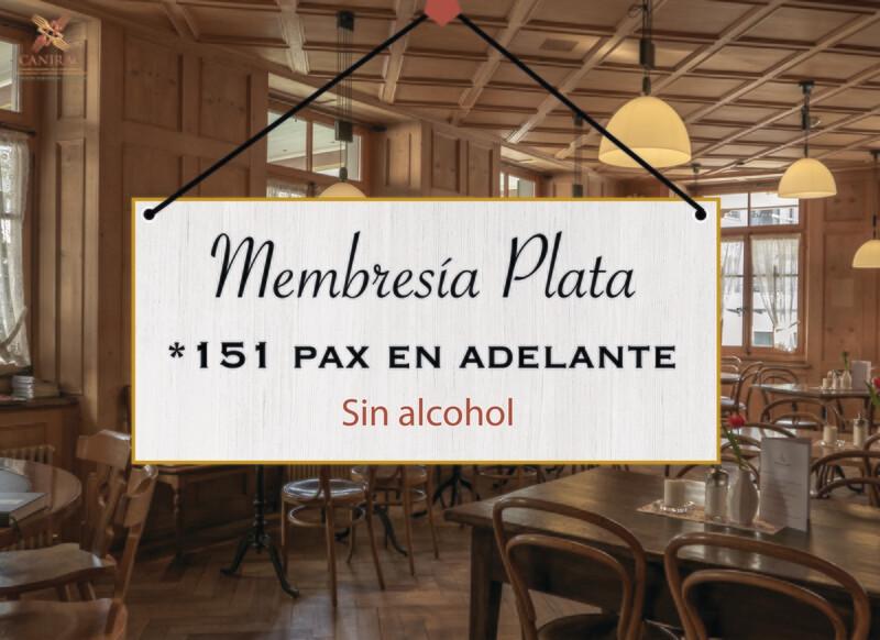 MEMBRESÍA PLATA, SIN ALCOHOL