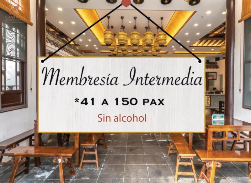 MEMBRESÍA INTERMEDIA, SIN ALCOHOL
