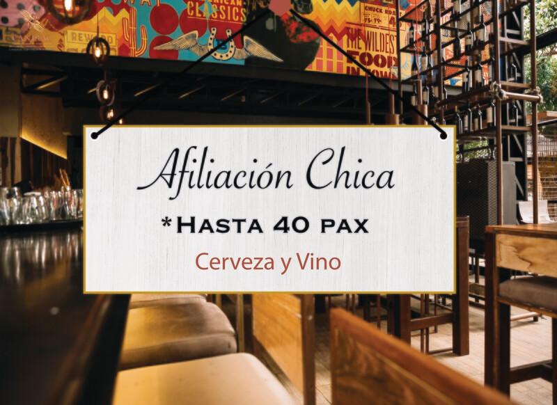 AFILIACIÓN CHICA, CERVEZA Y VINO