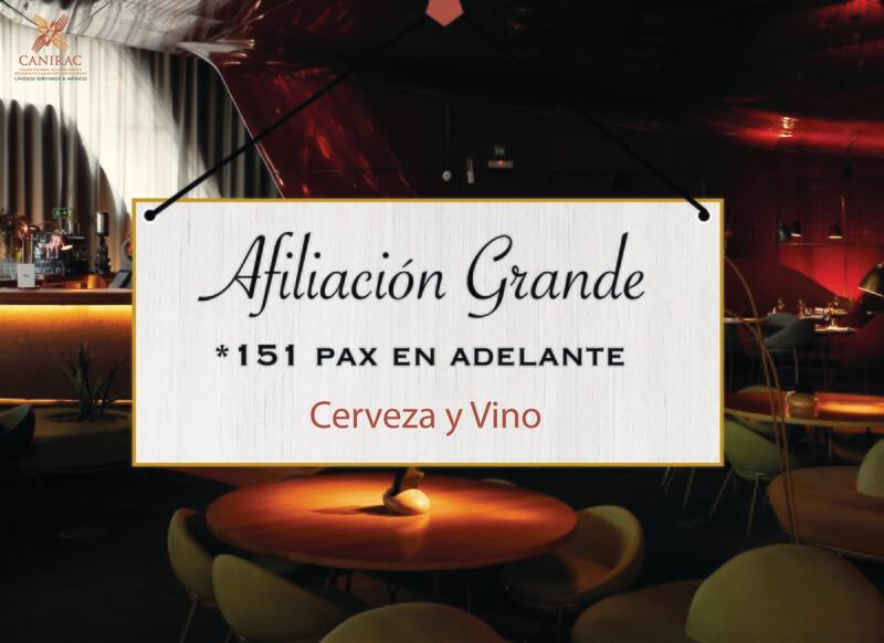 AFILIACIÓN GRANDE, CERVEZA Y VINO