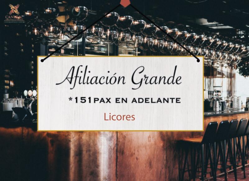 AFILIACIÓN GRANDE, LICORES