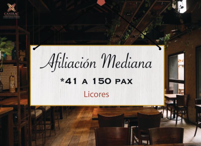 AFILIACIÓN MEDIANA, LICORES
