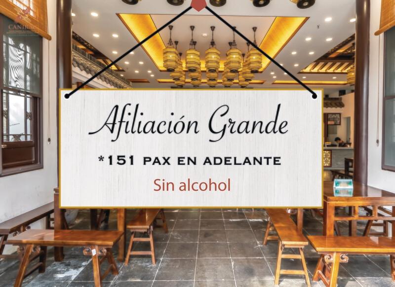 AFILIACIÓN GRANDE, SIN ALCOHOL