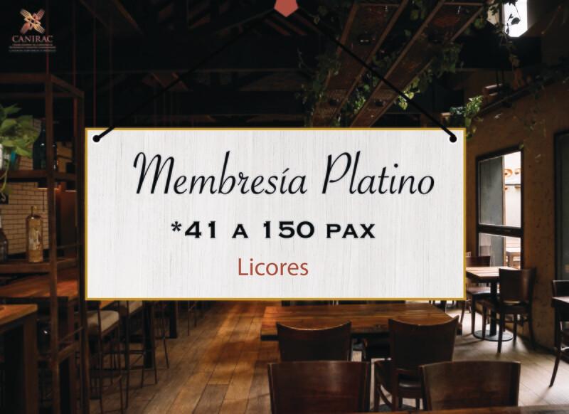 MEMBRESÍA PLATINO, LICORES