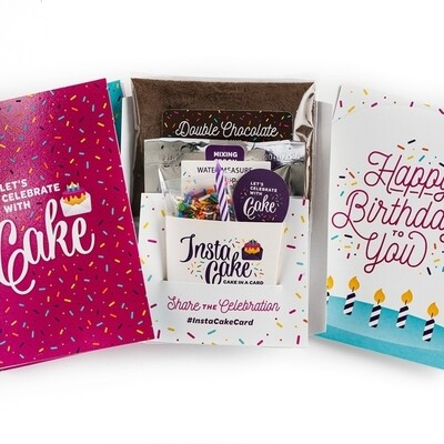 Happy Birthday Pink Card - Vanilla Confetti Cake & Frosting