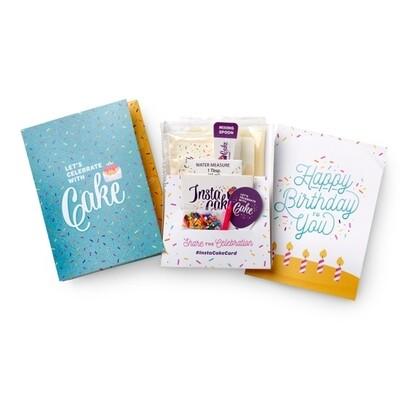 Happy Birthday Blue Card -Vanilla Confetti Cake &Frosting