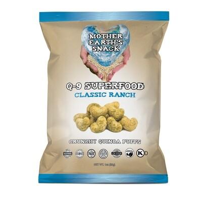 Q-9 SuperFood Classic Ranch Puffs   Qty 6 - 1oz bags