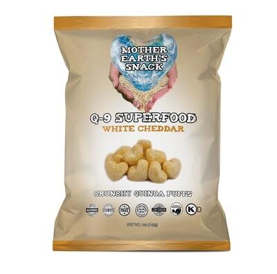 Q-9 Superfood White Cheddar Puffs   Qty 6 - 1oz bags