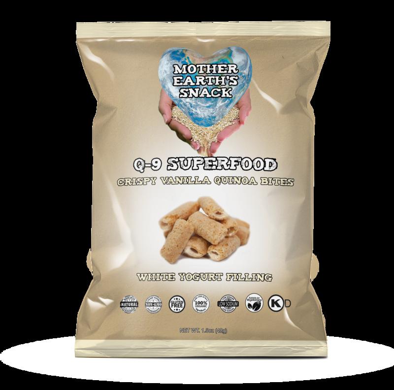 Q-9 SuperFood Vanilla Bites /   Qty 4 - 1.5oz bags