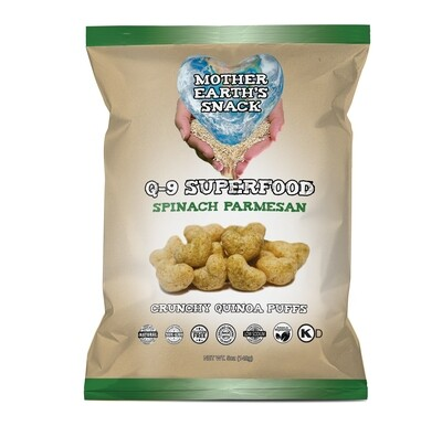 Q-9 SuperFood Spinach Parmesan Puffs  Qty 4 - 5oz family size bags