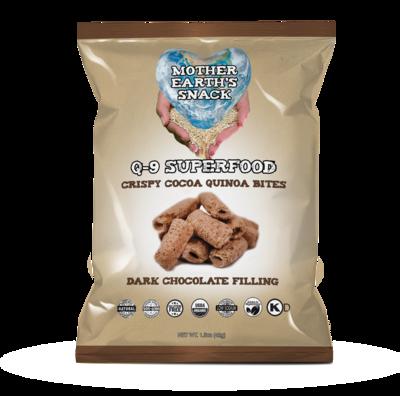 Q-9 SuperFood Cocoa Bites /  Qty 4 - 1.5oz bags