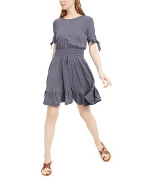 Maison Jules Smocked-Waist Tie-Sleeve Dress (Retail $59.50)  Size XL