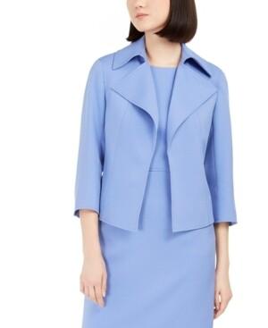 Anne Klein Ridge Crest Wide Collar Twill Jacket (Retail $149) Size 12