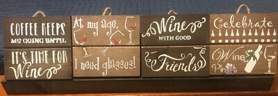 Wooden Plaques w/Holder