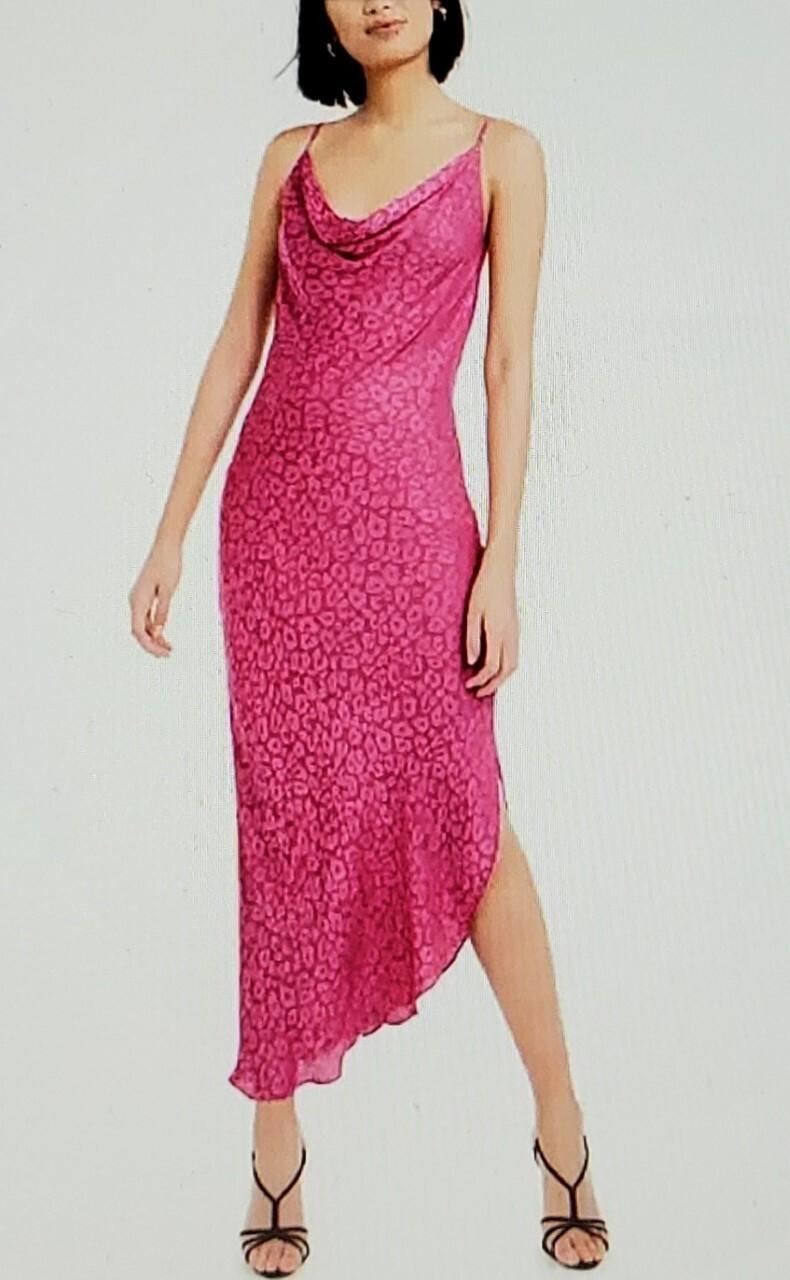 Bar III Leopard Print Midi Slip Dress (Retail 79.50)  Size XL