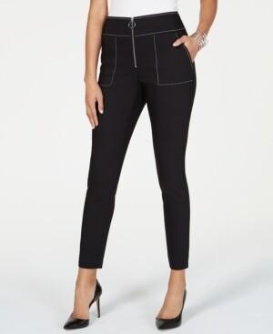 INC Contrast-Stitch Skinny Pants (Retail $69.50) Size 6