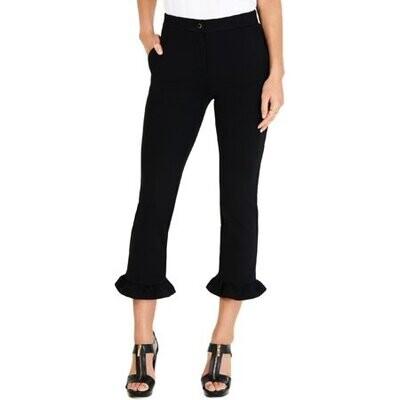 Michael Kors Ruffled Ponte-Knit Cropped Pants (Retail $110) Size S