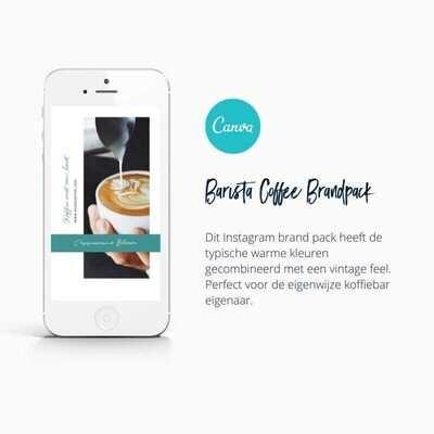 Barista koffiebar Instagram Template in Canva