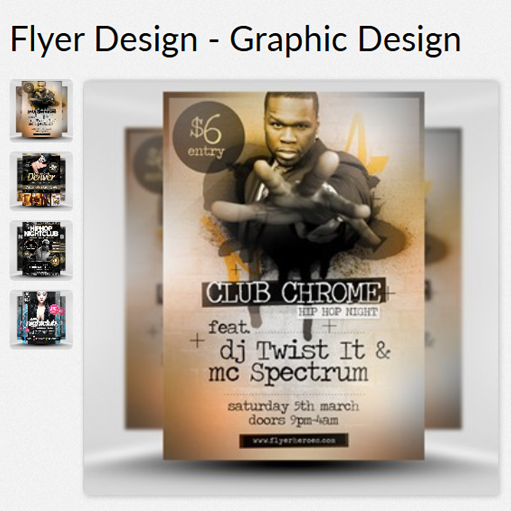 Single Side Flyer Graphic Designs