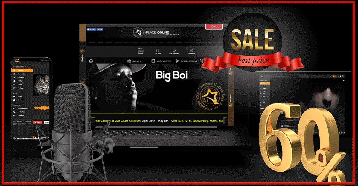 60% Off Music Website Designs For A Limited Time Only