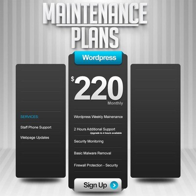 WEBSITE MAINTENANCE Service Basic Package