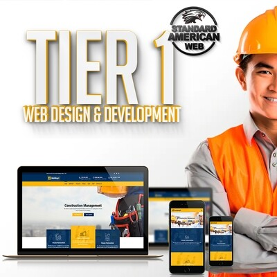 TIER 1:  5 Page Website - Fully RESPONSIVE