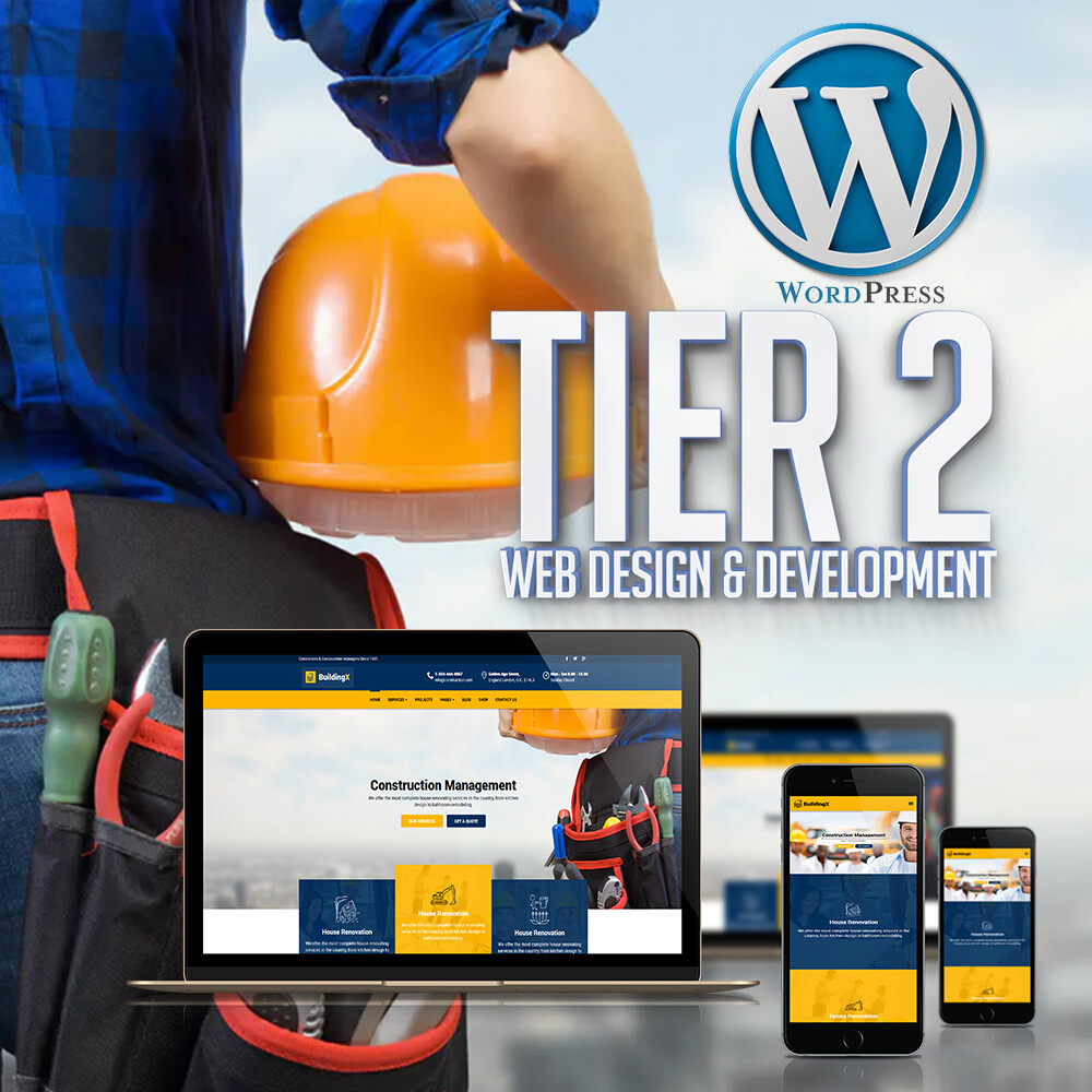 TIER 2:  10 Page Website - Fully RESPONSIVE