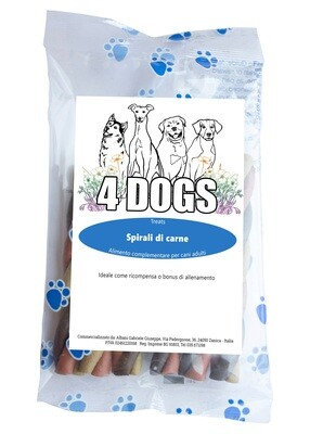 4DOGS SNACK DENTAL | Spirali di Carne